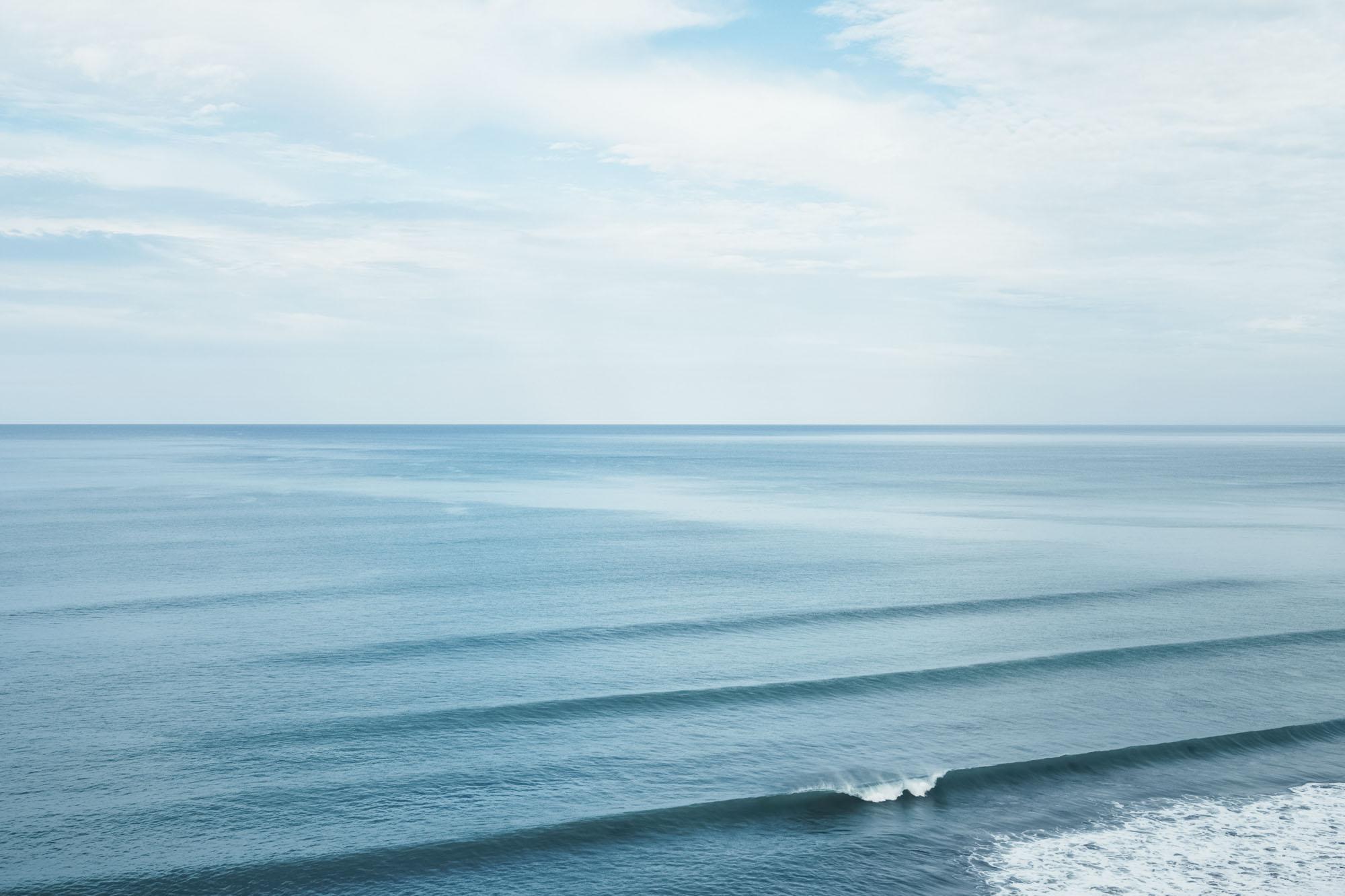 calm waves breaking calmly